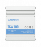 Teltonika TSW100 Industrial Ethernet Switch, unmanaged, 5x Gigabit Ethernet, 4x PoE, DIN rail option