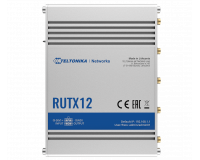 Teltonika RUTX12 Next Generation Industrial LTE WiFi Router, 2x SIM, Quad Core CPU, 256 MB RAM, 9-50V