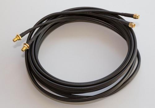 Poynting A-CAB-092 - CAB-092-2x5m-SMA-SMA, Antennenkabel Twin - HDF 195 SMA (m) / SMA (f), 5m