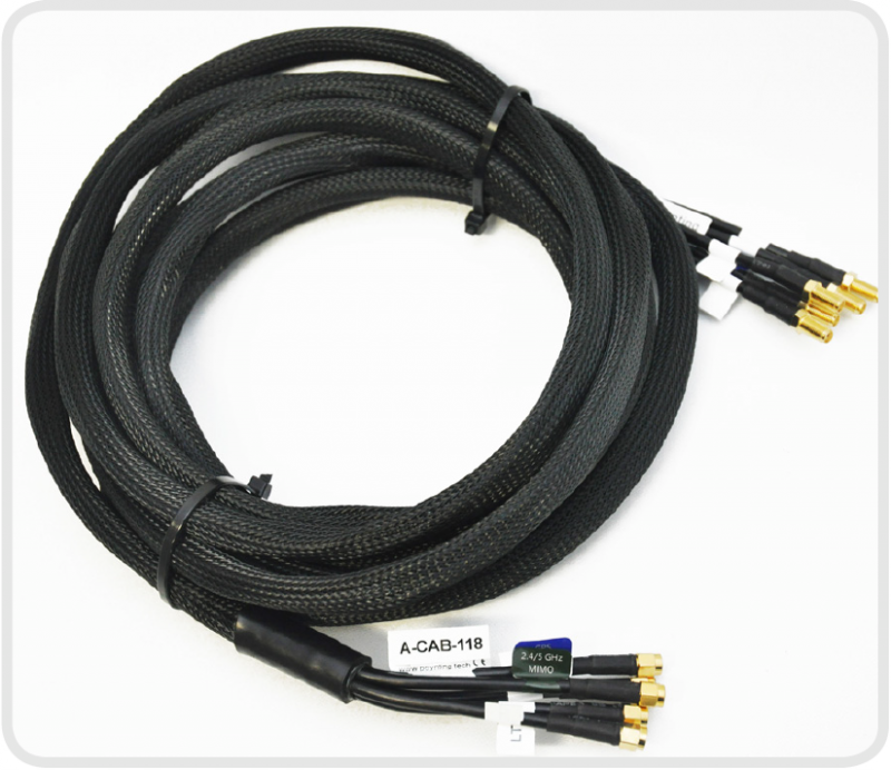 Poynting A-CAB-122 - CAB-122 - 3 Meter Extension cables for the MIMO-1, 5-in-1 Antennas, LMR195 - FR - FAKRA Connectors
