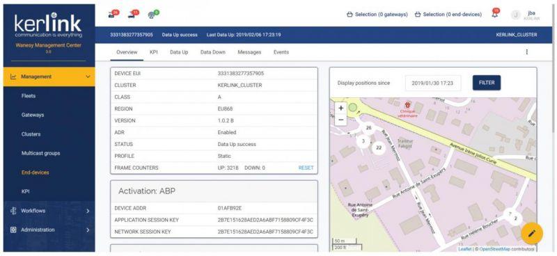ITalks 110803 Monatsgebühr Wanesy PrivateLora Netzbetrieb NaaS pro Kerlink Gateway, Sensoren unbegrenzt
