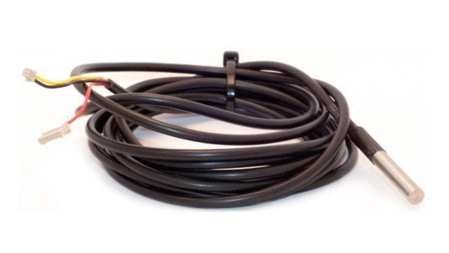 ITalks 110530-TEMP1 1-Wire Temperature Sensor (1 meter) with nylon swivel and PCB connector, IP67