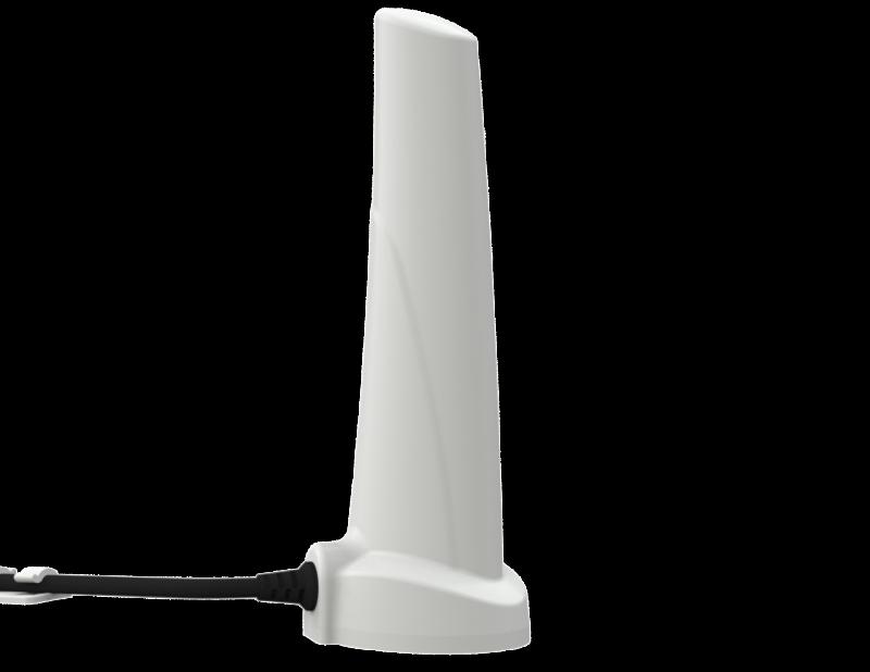 Poynting A-OMNI-0280-08 All Weather OMNI-Directional LTE + 5G SISO Antenna 698 - 960, 1710 - 2700 & 3400 - 3800 MHZ, max 4 dBi, 2m RG-58-SMA-M-90°