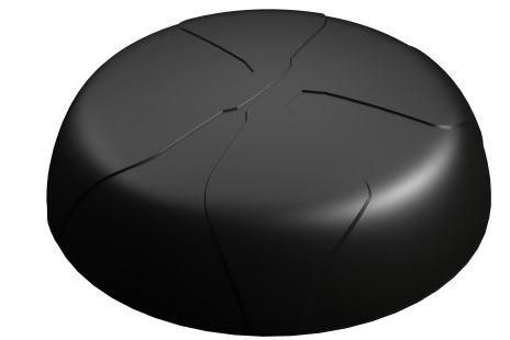 Panorama LGMM4B-7-38 Fahrzeugantenne 2G/3G/4G + GPS 4x4 MIMO Antenne - schwarz