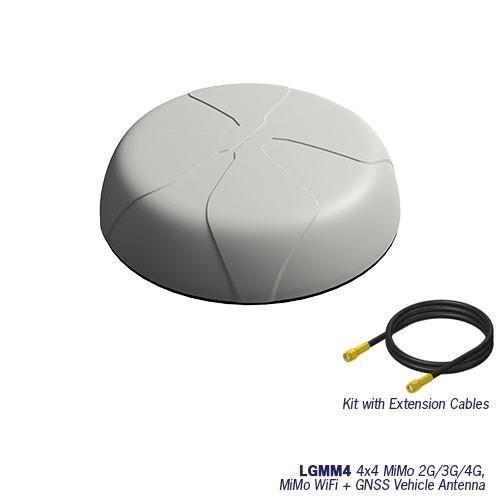 Panorama LGMDM4-7-38-24-58 Fahrzeugantenne 2G/3G/4G+WLAN 4x4 LTE /2x2 WLAN/ GPS - weiß