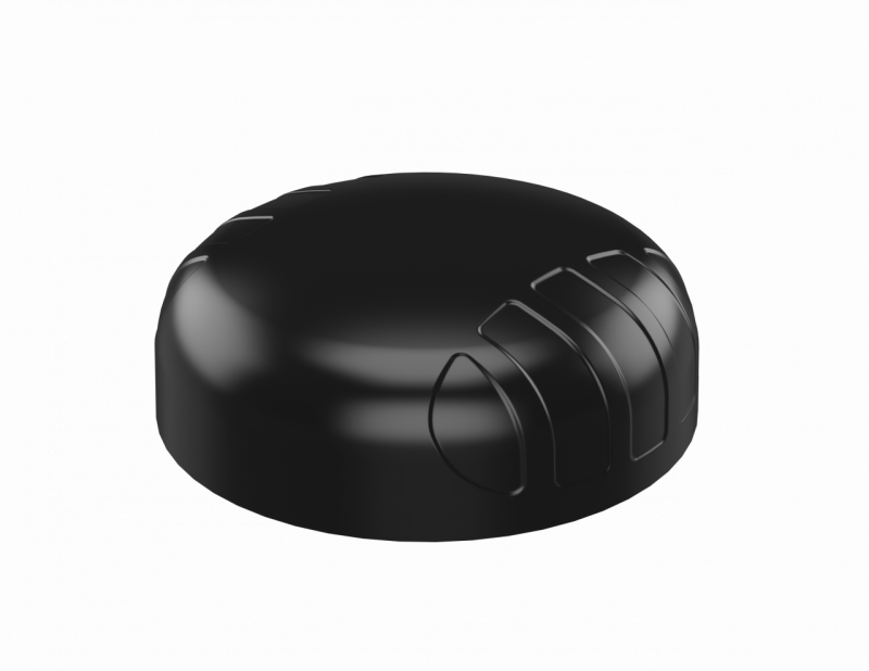 Poynting A-PUCK-0005-V1-01 Robuste 5 in 1 Ultra Wide Band PUCK Rundstrahlantenne, schwarz, 2x 5G/LTE 698 - 3800 MHz + 2x WIFI + 1x GPS, 2m SMA (m)