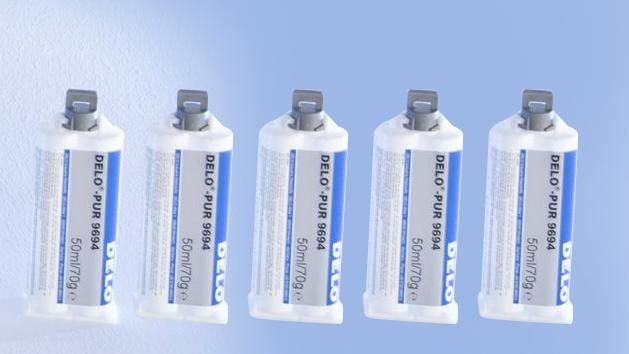 Two component adhesive DELO-PUR 9692 - package with 5x50ml.cartridge - for BOSCH Parking Lot Sensor