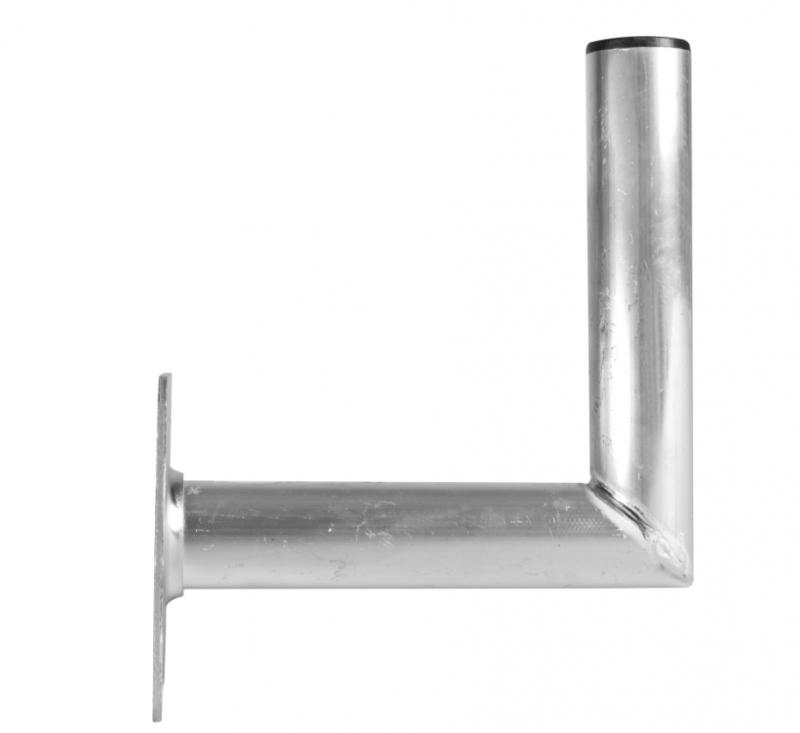 Alu-Wandwinkelhalter 25 cm Wandabstand, Rohrdurchmesser 50mm