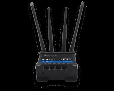 Teltonika RUT950 V2 (Global) LTE Router/WLAN 4XETH 2XSIM 100Mbps Down/50Mbps Upl.