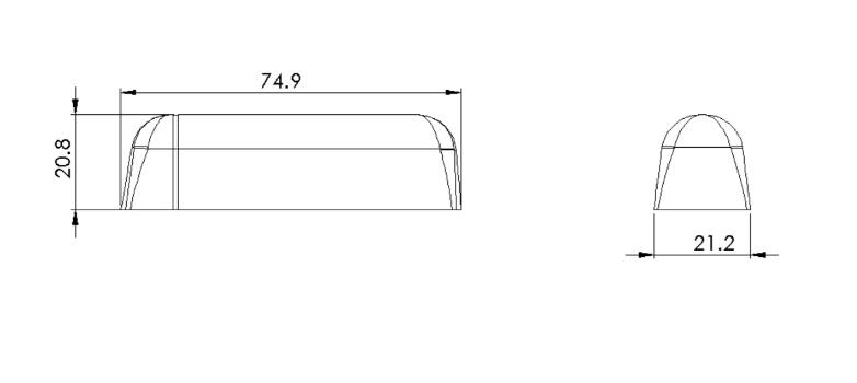 ELSYS 110488 EMS Door LoRaWAN Sensor Door Opening/Movement, including Magnet