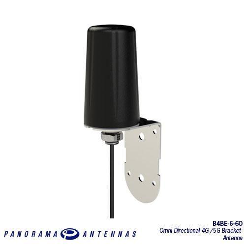 Panorama B4BE-6-60-5SP Rundstrahlantenne mit Halterung 3G/4G/5G (600-6000MHz) 5m Kabel SMA (m) Stecker