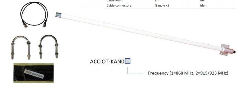 Kerlink ACCIOT-KAN01 Antenna Kit für Wirnet/IBTS - 868Mhz 6 dBi