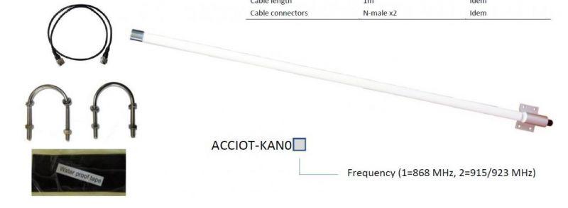 Kerlink ACCIOT-KAN02 Antenna Kit für Wirnet/IBTS - 868Mhz 6 dBi