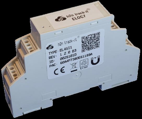 h2n EL7SI1 Sigfox Hutschienengerät mit 0..10V/4..20mA I/O, externer Stromversorgung, PT1000/NTC Input inkl. h2n CS5 5 Jahre Cloud und Sigfox Netzwerk