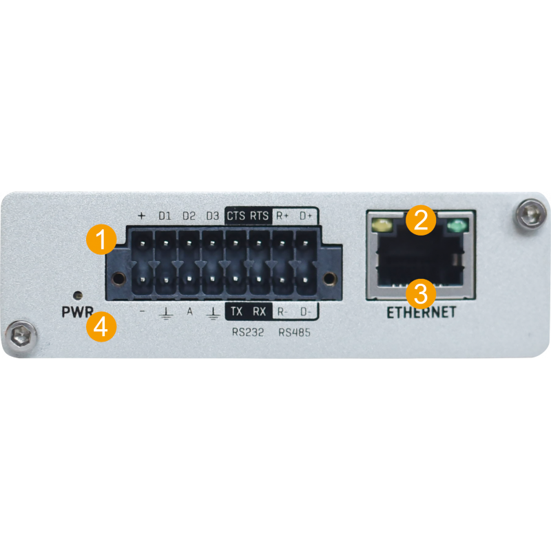 Teltonika TRB255 LTE (Cat M1), NB-IoT, 2G RS232/RS485 Multi I/O Gateway with GNSS