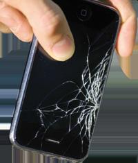 Smartphone mit defektem Bildschirm